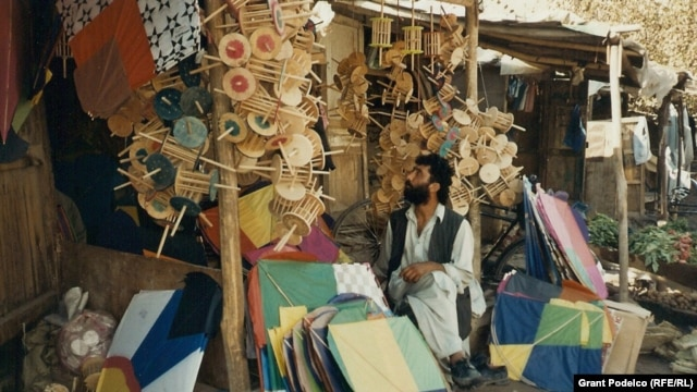 A Kabul shop catering to kite enthusiasts