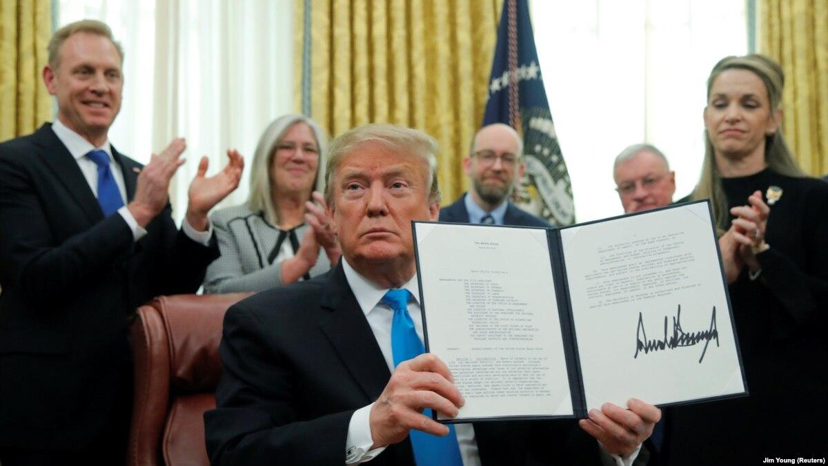 Президент Трамп подписал указ о создании Космических войск США
