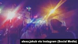 Уночы на вуліцы Зыбіцкай у Менску, ілюстрацыйны здымак. Фота: alexa.jakub via Instagram