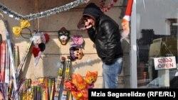 Georgia -- New Year. Market. Christmas Shopping in Tbilisi. 27Dec2012.