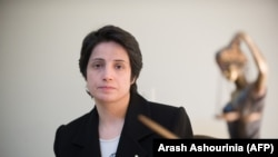 IRAN -- Iranian lawyer Nasrin Sotoudeh is seen in Tehran on November 1, 2008.