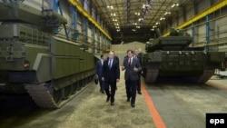 Владимир Путин на Уралвагонзаводе. Ноябрь 2015 года