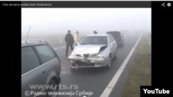 Авария в Симановки, Сербия, 22 декабря 2013