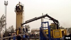 A gas refinery in Al-Basrah