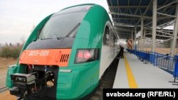Belarus - New train to the National Airport, Minsk, 07Nov2014