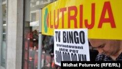 Jedno od prodajnih mjesta Lutrije BiH, avgust 2009
