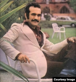 Iranian performer and pop star Feraydoun Farrokhzad, undated.