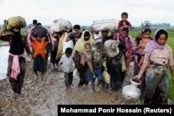 Рохинжа качкындары Бангладеште. 1-сентябрь, 2017-жыл.