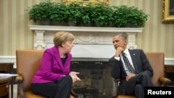 Германия канцлері Ангела Меркель мен АҚШ президенті Барак Обама.