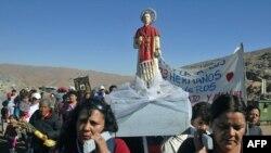 مراسم مذهبی در شیلی به یاد معدنچیان