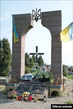 Пам'ятник воїнам УПА у селі Грушовичі