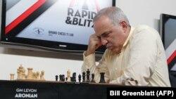 Гарри Каспаров на турнире в Сент-Луисе, США. 15 августа 2017 года.