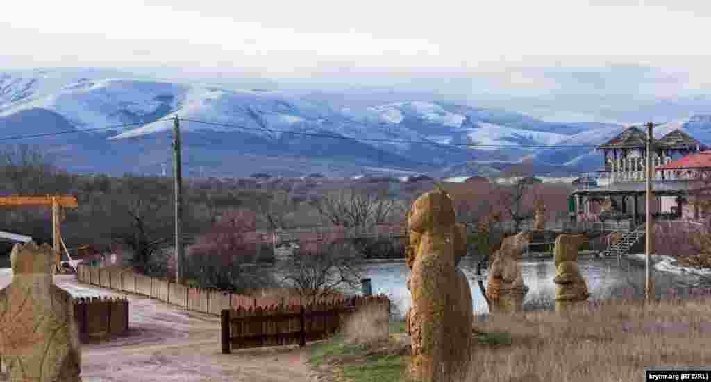 Чатыр-Даг тоже занесло снегом