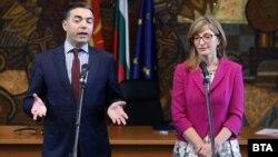 Бугарската министерка за надворешни работи Екатерина Захариева и шефот на македонската дипломатија Никола Димитров