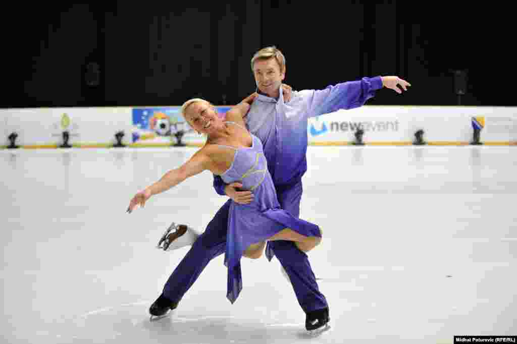 "Torvill and Dean recreated their purple costumes for the reenactment of their emotional ""Bolero"" performance."