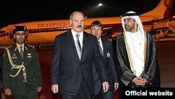 Аляксандар Лукашэнка падчас візыту ў ААЭ у 2007 годзе