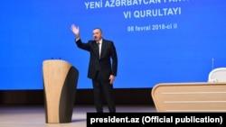 İ.Əliyev YAP-ın qurultayında