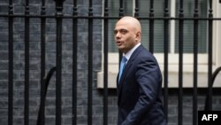 British Home Secretary Sajid Javid (file photo)