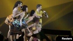Prizor sa Eurosonga u Bakuu 2012. godine