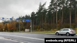 The Bruzgi-Kuznitsa border crossing between Belarus and Poland