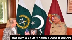 U.S. deputy assistant secretary of state, Alice Wells, met with Pakistani army chief Qamar Javed Bajwa and other senior officials this week.