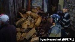 Місце обвалення будинку в Одесі, 13 жовтня 2016 року