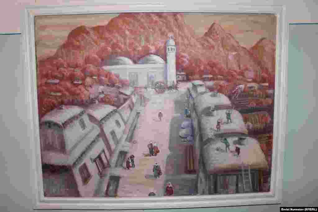 Кокон хандыгынын тушундагы Ош шаарында жайгашкан мечиттердин көрүнүшү.