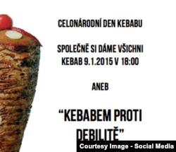 Ілюстрація акції «Кебабом проти ідіотизму» зі сторінки організаторів у Facebook