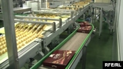 A production line inside Ukraine's Roshen chocolate factory.