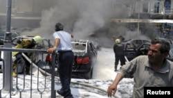 انفجار وسط دمشق الخميس 28حزيران