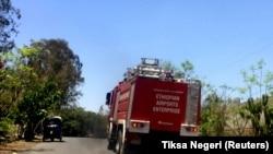 Spasilačke ekipe na putu ka mestu nesreće