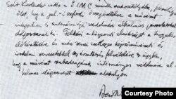 Scrisoarea lui Bartók din 1931 în relație cu Toscanini