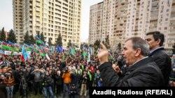 Бакуде өткен наразылық митингісі. Әзербайжан, 15 наурыз 2015 жыл.