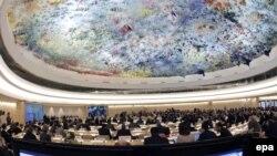 کرسی ایران در نشست سالانه شورای حقوق بشر سازمان ملل در ژنو