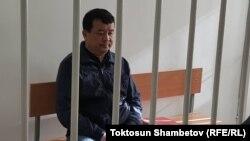 Икрамжан Илмиянов в Октябрьском районном суде Бишкека. 30 октября 2019 года.