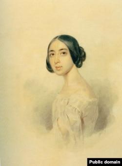 Полина Виардо. Портрет работы Петра Соколова. 1844