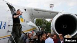 Олег Сенцов в Киеве после обмена, 7 сентября 2019 года