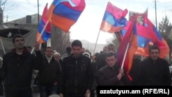 Armenia -- Opposition Armenian National Congress holding a rally in Martuni, Gegharkunik province, 17Dec2010
