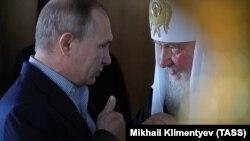 Президент Росії Володимир Путін і патріарх Кирило. Архівне фото