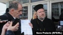 Velibor Džomić sa advokatom u Podgorici