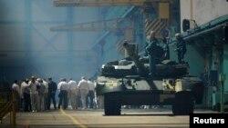 Український танк «Оплот» на заводі імені Малишева