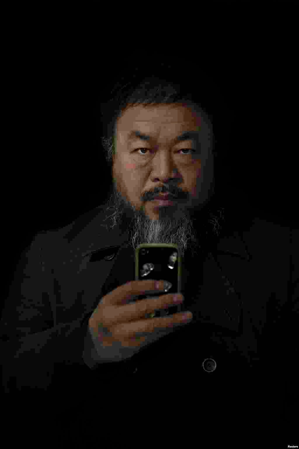 "Stefen Chow of Malaysia, a photographer working for ""Smithsonian"" magazine, won second prize in the People -- Staged Portraits Single category with this picture of Chinese dissident artist Ai Weiwei in Beijing."