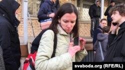 Христина Бердинських під час затримання, Мінськ, Білорусь, 24 березня 2017 року