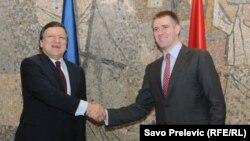 Žoze Manuel Barozo i Igor Lukšić, na susretu u Podgorici u aprilu 2011.