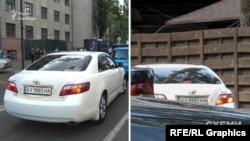 Давиденко залишив захід із участю президента на тій самій Toyota Camry, на якій він разом із Слюсарєвим приїздив до заміського комплексу