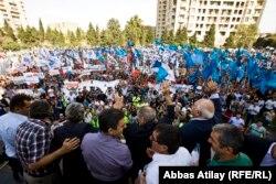 Митинг НСДС и встреча Джамиля Гасанлы с избирателями на стадионе 22 сентября 2013