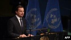 Посол ООН з проблем клімату Леонардо Ді Капріо, 22 квітня 2016 року, Нью-Йорк