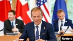 На снимке: президент Европейского совета Дональд Туск/