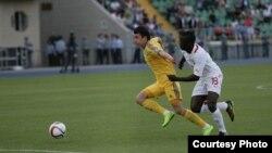 Қазақстан және Буркино-Фасо футбол құрамаларының кездесуі. Алматы, 12 мамыр 2015 жыл. (Көрнекі сурет)