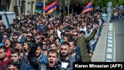 Протесты в Ереване. 16 апреля 2018 года